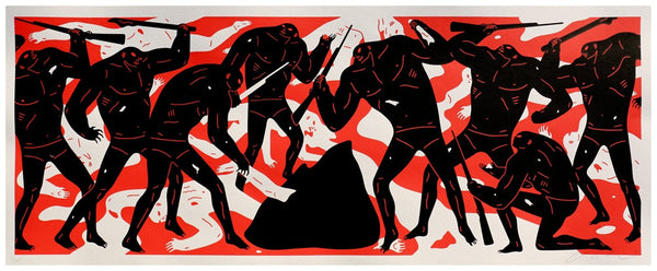 "Cleon Peterson ""Burning The Dead"" (Red)"