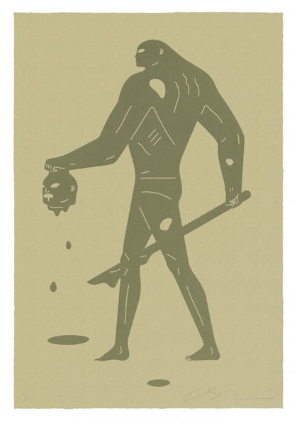 "Cleon Peterson ""Headless Man"" (Gold On Gold)"