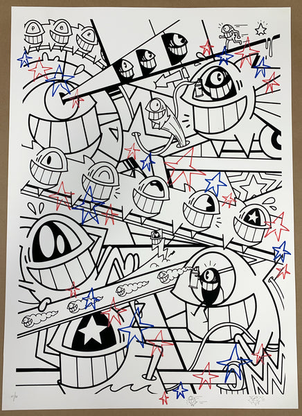"El Pez ""Happy Pop"" Print (Hand Finished w/Outline) #19"