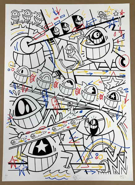 "El Pez ""Happy Pop"" Print (Hand Finished w/Outline) #1"