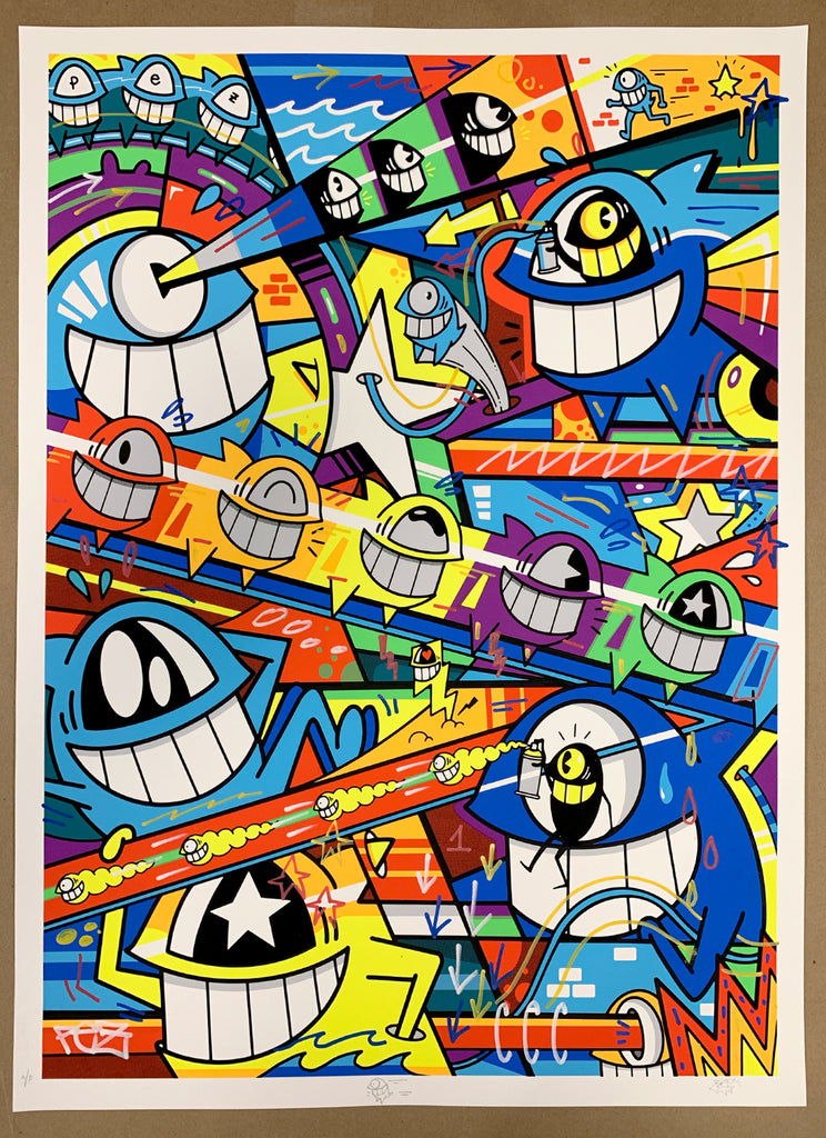 "El Pez ""Happy Pop"" Print (Hand Finished) A/P #2"