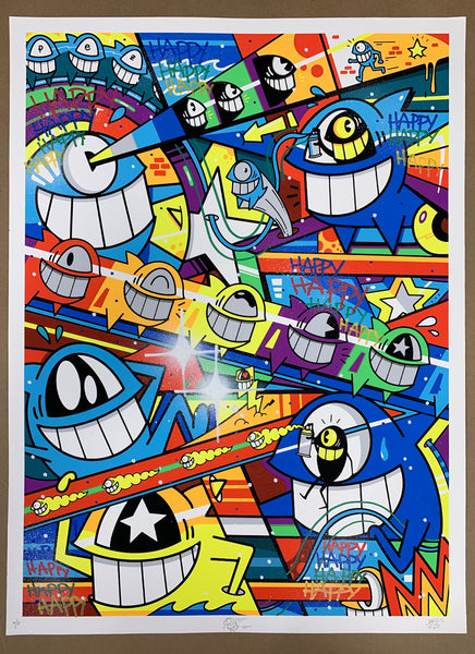 "El Pez ""Happy Pop"" Print (Hand Finished) A/P #3"