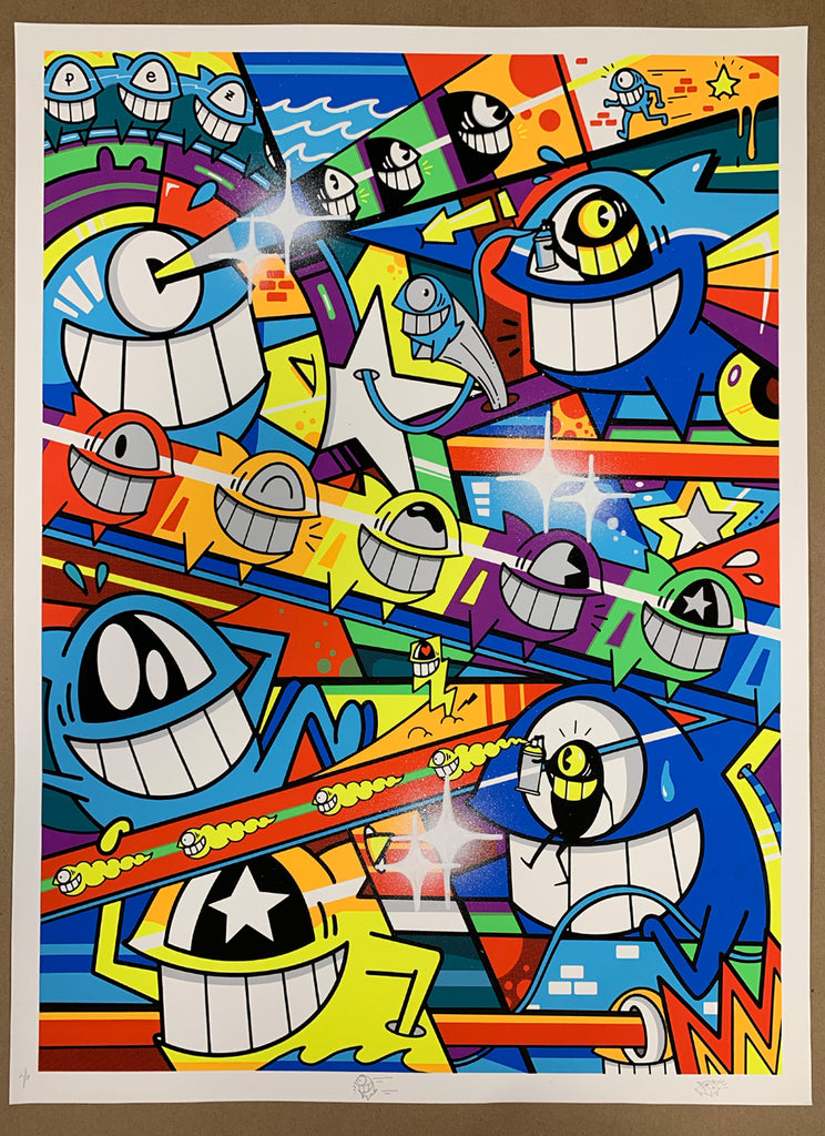 "El Pez ""Happy Pop"" Print (Hand Finished) A/P #4"