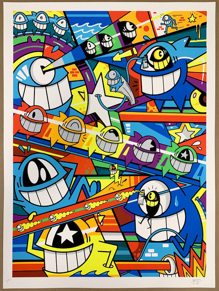 "El Pez ""Happy Pop"" Print (Glow In The Dark)"