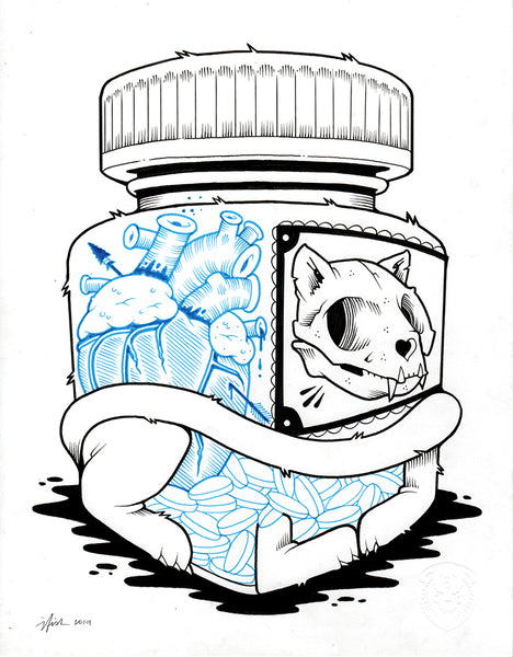 "Jeremy Fish ""Drugs"" Drawing"