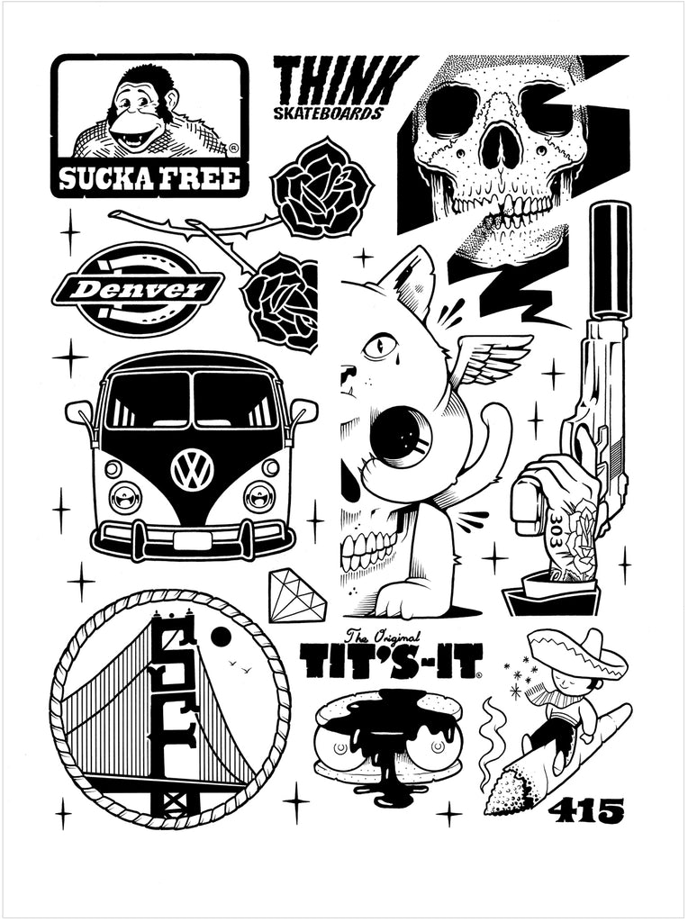 "Jeremy Fish & Mike Giant ""Sucka Free"" Print"