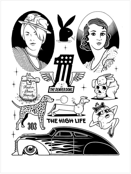 "Jeremy Fish & Mike Giant ""The High Life"" Print"