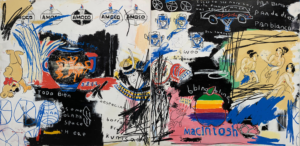 "Julio Alejandro ""I Used To See More Cars With Flames When I Was Younger"" (Diptych)"