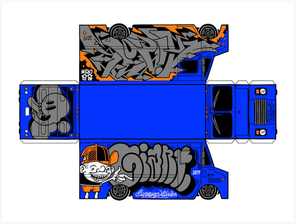 Mike Giant Box Van (Blue)