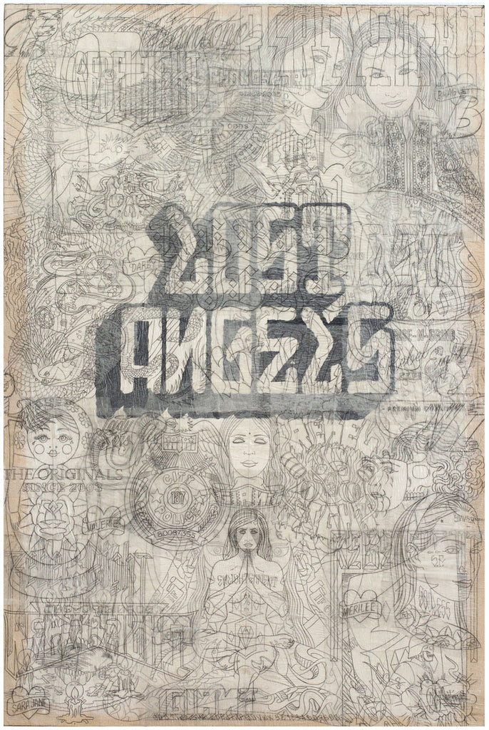 "Mike Giant - ""Lost Angels"" Collage Panel"