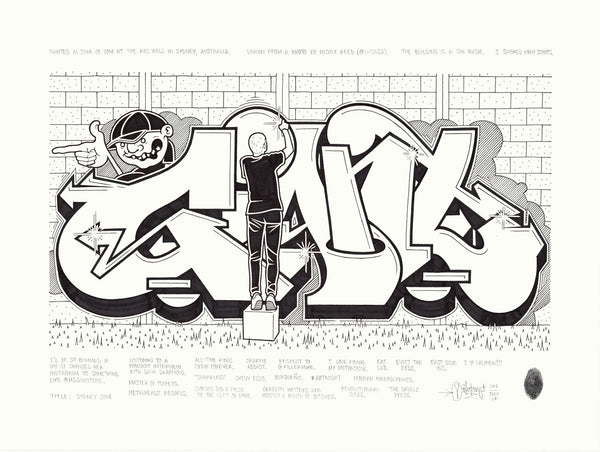 "Mike Giant - ""Sydney 2014"" Drawing"