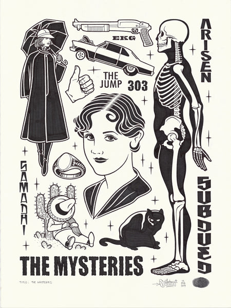 "Mike Giant ""The Mysteries"" Drawing"