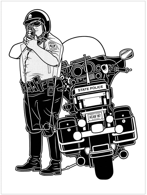 Mike Giant Traffic Cop Large Format - Archive