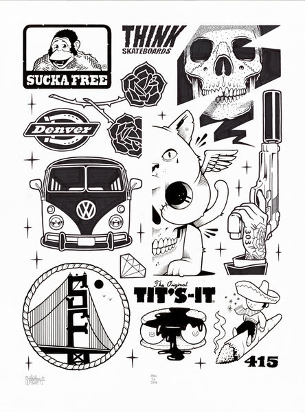"Jeremy Fish & Mike Giant Collab ""Sucka Free"" Drawing"