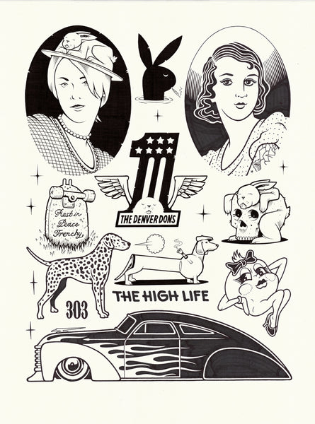 "Jeremy Fish & Mike Giant Collab ""The High Life"" Drawing"