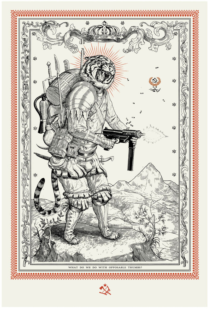Ravi Zupa - Opposable Thums - Tiger Print