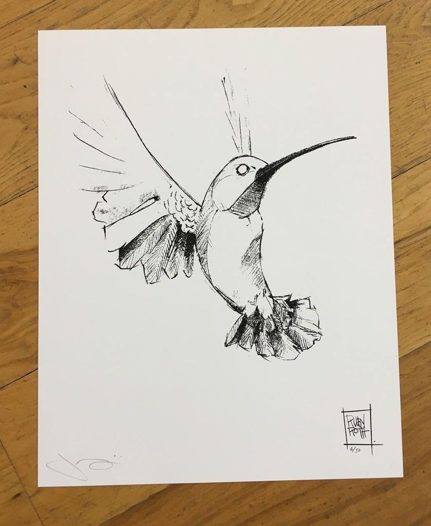 Ruby Roth Hummingbird Print