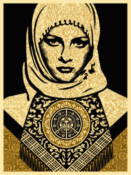 "Shepard Fairey ""Arab Woman"" (Gold)"