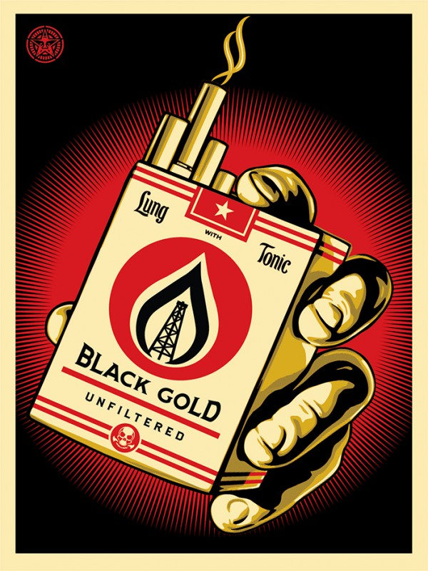 "Shepard Fairey ""Black Gold"""