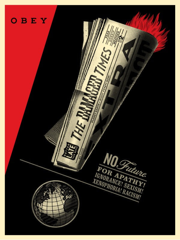 "Shepard Fairey ""Damaged Times"""