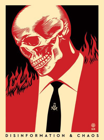 "Shepard Fairey ""Deceit & Disruption"" (Left)"