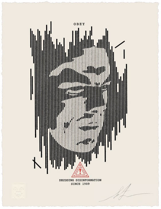 "Shepard Fairey ""Decoding Disinformation"" Letterpress"