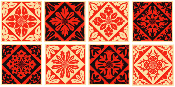 Shepard Fairey Floral Pattern Set
