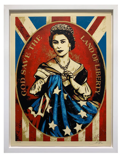 "Shepard Fairey ""God Save The Queen"" (Framed)"