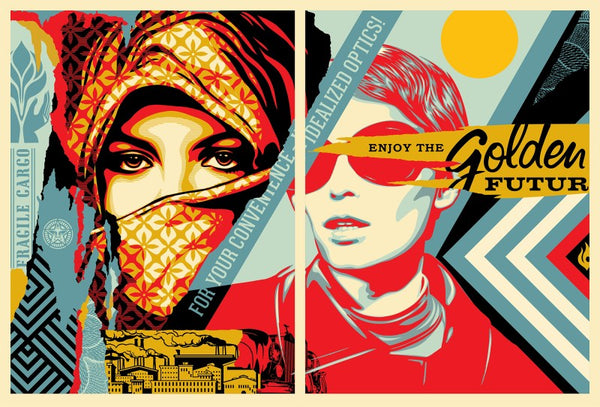 "Shepard Fairey ""Golden Future For Some"""