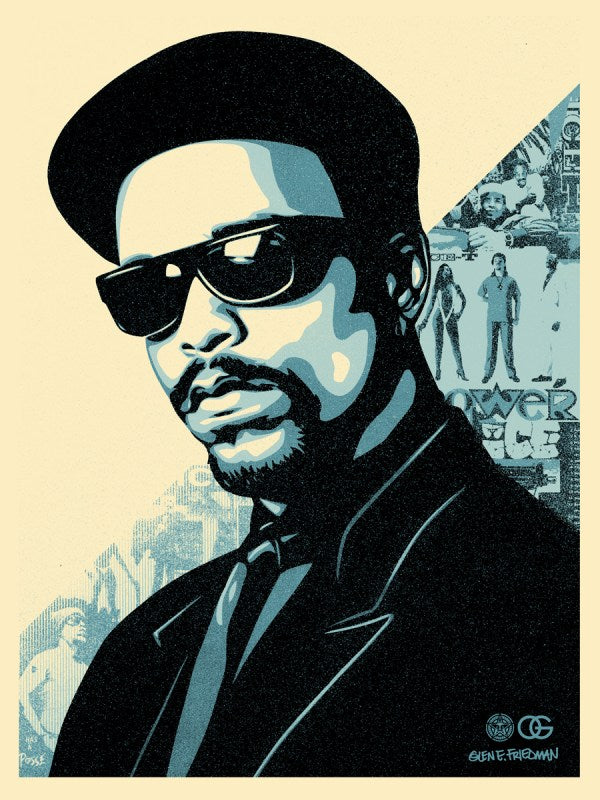 "Shepard Fairey ""Ice T OG"" (Blue)"