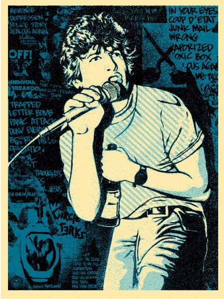 Shepard Fairey - Keith Morris (Blue)