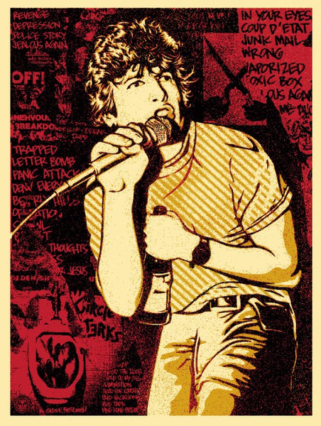 Shepard Fairey - Keith Morris (Red)