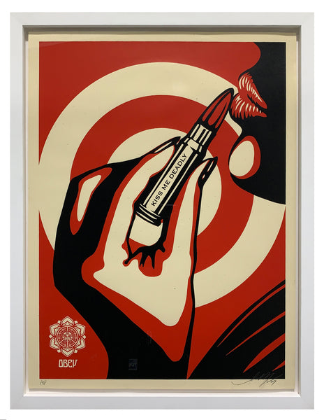 "Shepard Fairey ""Kiss Me Deadly"" (Framed)"