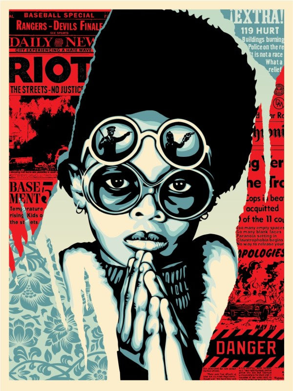 "Shepard Fairey ""Late Hour Riot"""