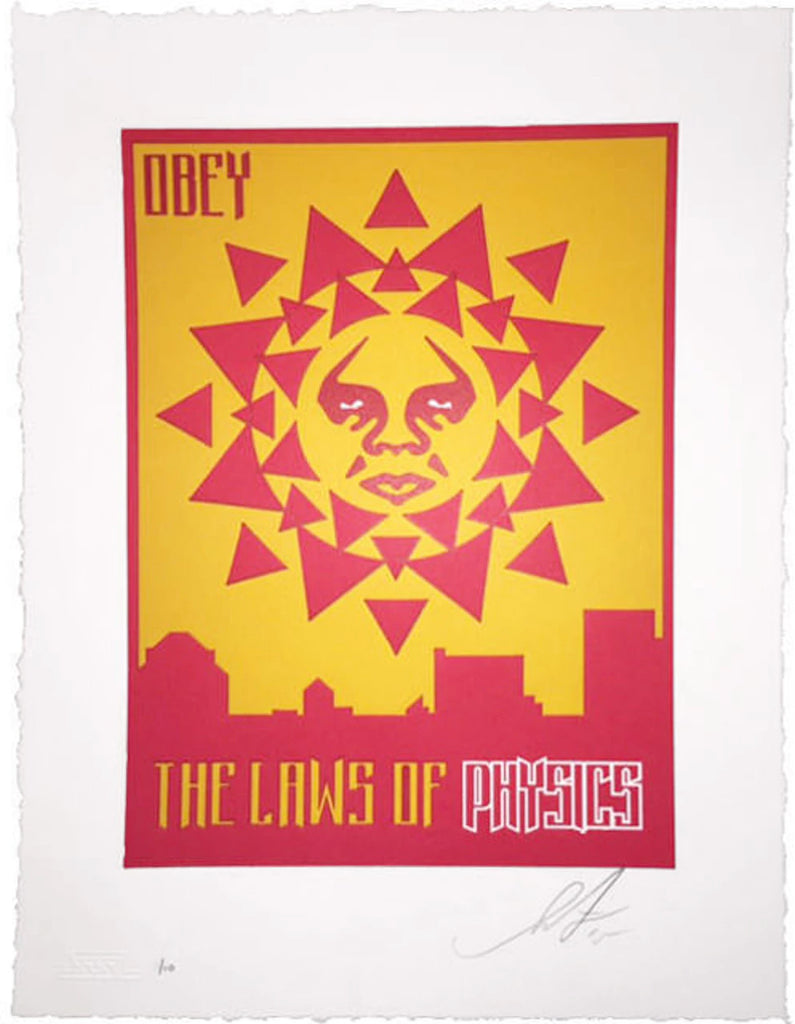 "Shepard Fairey ""Laws Of Physics"" (Variant) Letterpress"
