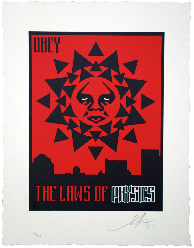 "Shepard Fairey ""Laws Of Physics"" Letterpress"