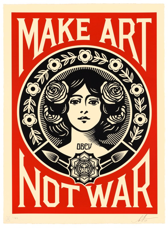 "Shepard Fairey ""Make Art Not War"" Large Format"