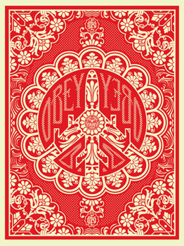 "Shepard Fairey ""Peace Bomber"" (Red)"