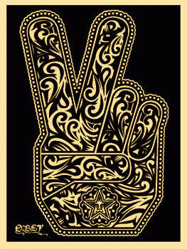 "Shepard Fairey ""Peace Fingers"""