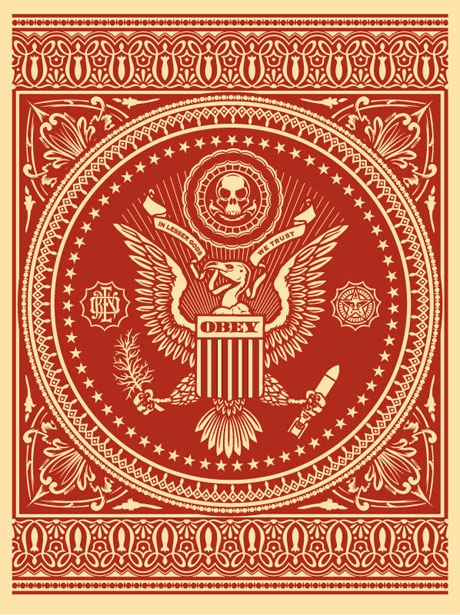 "Shepard Fairey ""Presidential Seal"" (Red)"