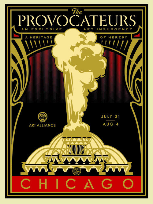 "Shepard Fairey ""The Provocateurs Chicago"" (Gold)"