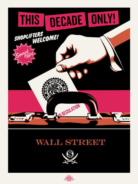 "Shepard Fairey ""Shoplifters Welcome"" Large Format (Pink/Orange/Black)"