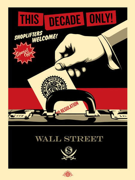 Shepard Fairey Shoplifters Welcome Large Format Red/Black/Silver