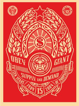 "Shepard Fairey ""Supply and Demand"" (Red)"