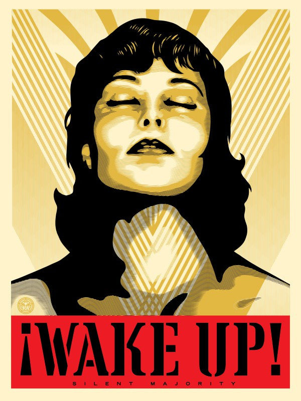 Shepard Fairey Wake Up! (Gold)
