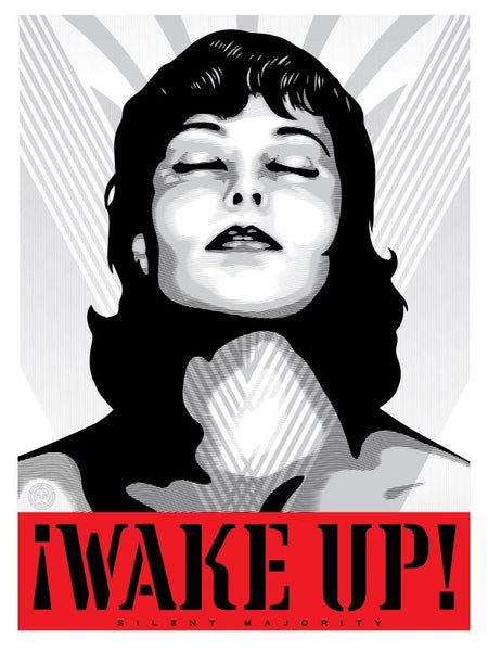 "Shepard Fairey ""Wake Up!"" (Silver)"