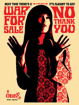 "Shepard Fairey ""War For Sale"" (Cream)"