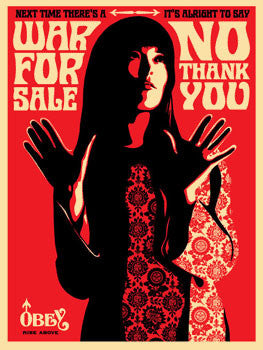 "Shepard Fairey ""War For Sale"" (Red)"