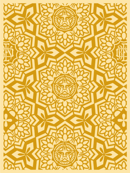 Shepard Fairey Yen Pattern Gold