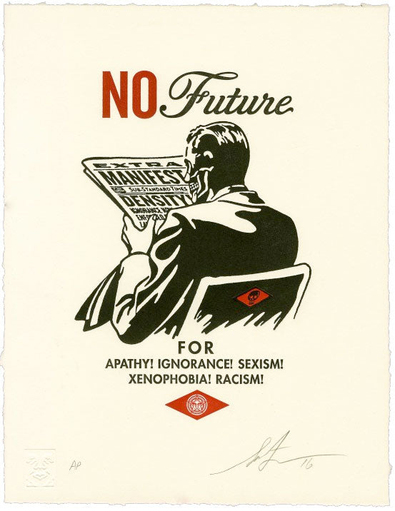"Shepard Fairey ""No Future"" Letterpress"